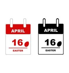 Easter calendar 2017 vector