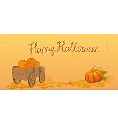 Halloween postcard vector