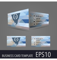 business card template vector image vector image
