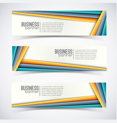 business digital infographic horizontal banners vector image vector image