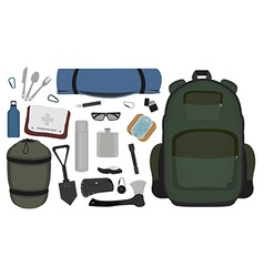 Camping set no outlines vector