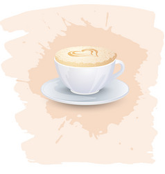 coffee background or banner flayer web print vector image