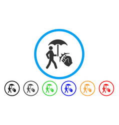 Crime coverage rounded icon vector