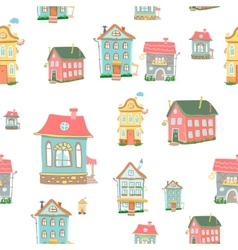 Cute cartoon houses vector image vector image