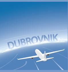 dubrovnik skyline flight destination vector image