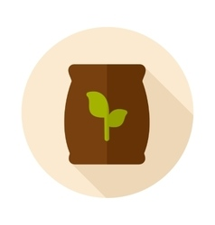 Fertilizer flat icon with long shadow vector