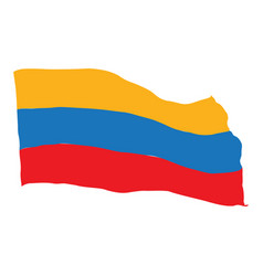 flag of colombia vector image