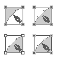 Four squares vector image