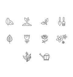 Garden icons vector image vector image