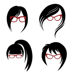 Girl glasses 1 2 vector