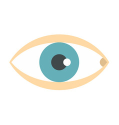 Healthy eye icon flat style vector