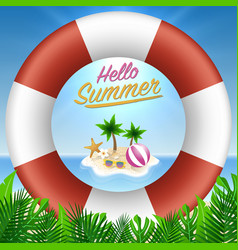Hello summer background season vacation weekend vector