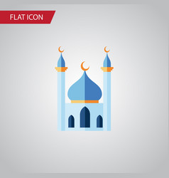 isolated islam flat icon structure element vector image