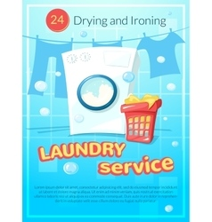 Laundry service poster vector image