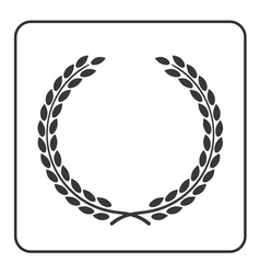 Laurel wheat wreath symbol victory achievement vector