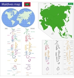 Maldives map vector