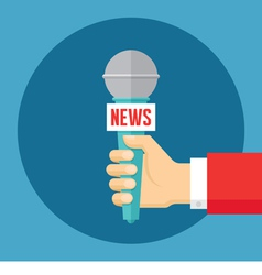 News concept in flat style vector image
