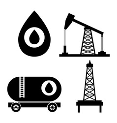 Petroleum industry design vector image