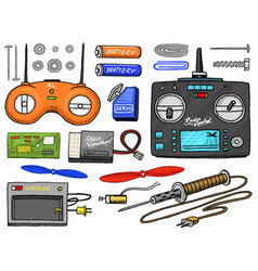 rc transport and instrument remote control models vector image