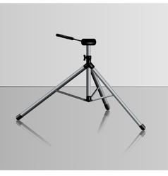 realistic camera tripod vector image