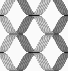 Ribbons forming grid pattern vector image