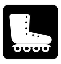 Roller skates icon button vector image vector image