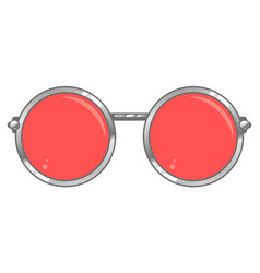 rose colored glasses vector image vector image