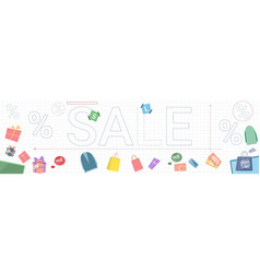 sale banner black friday discounts with gift boxes vector image vector image