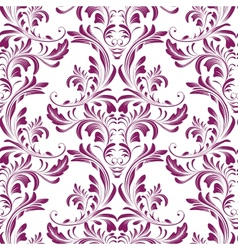 Seamless damask texture vector image