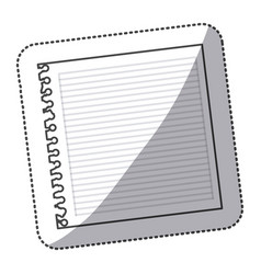 silhouette notebook school icon vector image vector image