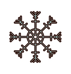 Snowflake christmas in shape crystal vector
