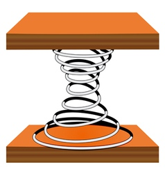 Spiral on a stand vector