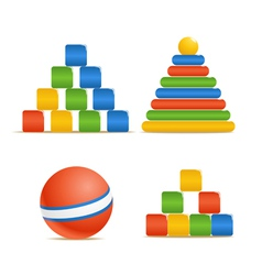Wood color toys vector image