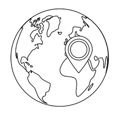 planet earth icon image vector image