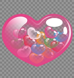 Abstract colorful heart balloons for valentine day vector