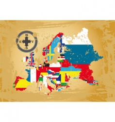 European flag map vector image