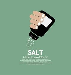 Salt bottle in hand vector