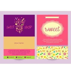 Flyer sweets background ad logo vector