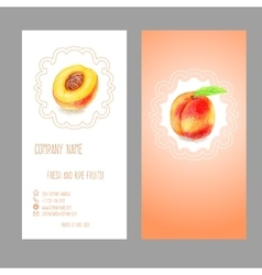 Business card with peach vector
