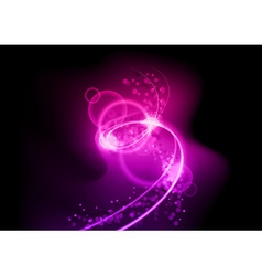 Purple spiral vector