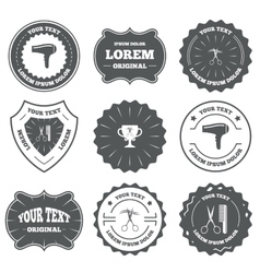 Hairdresser icons scissors cut hair symbol vector