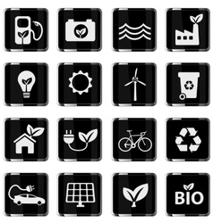Alternative energy simply icons vector