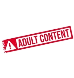 Adult Content rubber stamp vector image vector image