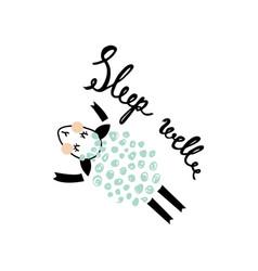 Another sleeping sheep vector