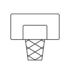 Basketball shield line icon vector