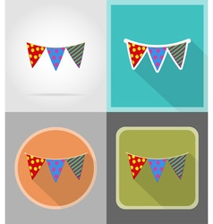 Celebration flat icons 10 vector