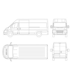 commercial vehicle or logistic car outline cargo vector image vector image