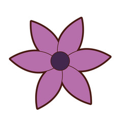 cute flower garden isolated icon vector image vector image