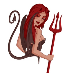 demon girl vector image vector image