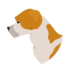 Dog head american staffordshire terrier vector